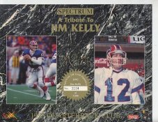 Jim Kelly Buffalo Bills 1993 Quarterback Club Collectors Edition Limited Numbered Spectrum With Gold Signature 8.25X10.5 Photo