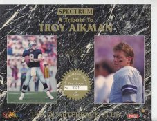 Troy Aikman Dallas Cowboys 1993 Quarterback Club Collectors Edition Limited Numbered Spectrum With Gold Signature 8.25X10.5 Photo