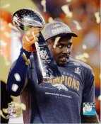 Von Miller With Lombardi Trophy Super Bowl 50 Denver Broncos SATIN 8X10 Photo
