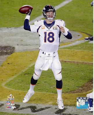 Peyton Manning Super Bowl 50 Denver Broncos SATIN 8X10 Photo