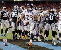 CJ Anderson Touch Down Run Super Bowl 50 Denver Broncos SATIN 8X10 Photo