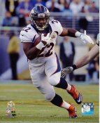 CJ Anderson Super Bowl 50 Denver Broncos SATIN 8X10 Photo