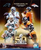 Denver Broncos vs Carolina Panthers Super Bowl 50 SATIN 8X10 Photo