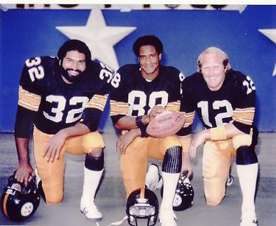 Terry Bradshaw, Lynn Swann and Franco Harris Super Bowl MVP's Pittsburgh Steelers LIMITED STOCK 8x10 Photo