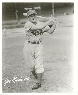 Joe Medwick Brooklyn Dodgers LIMITED STOCK 8X10 Photo
