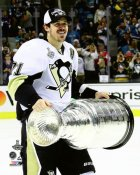 Evgeni Malkin with Cup 2016 Stanley Cup Champs Pittsburgh Penguins SATIN 8x10 Photo