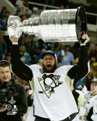 Nick Bonino with Cup 2016 Stanley Cup Champs Pittsburgh Penguins SATIN 8x10 Photo