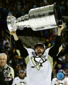 Kris Letang with Cup 2016 Stanley Cup Champs Pittsburgh Penguins SATIN 8x10 Photo