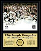 Penguins 2016 On Ice Celebration Stanley Cup Champions 12x15 MATTE BLACK Plaque - Discounts for Quantity Buyers
