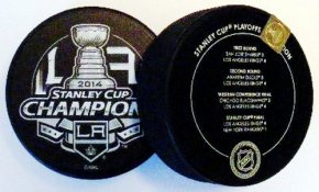 Kings 2014 Puck Stanley Cup Hockey Puck with Series Info on Back
