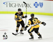 Conor Sheary & Kris Letang Goal Game 1 2016 Stanley Cup Champs Pittsburgh Penguins SATIN 8x10 Photo LIMITED STOCK