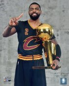 Kyrie Irving 2016 Finals with Champs Trophy Cleveland Cavaliers SATIN 8X10 Photo LIMITED STOCK