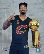 J.R. Smith 2016 Finals with Champs Trophy Cleveland Cavaliers SATIN 8X10 Photo LIMITED STOCK