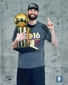 Kevin Love 2016 Finals with Champs Trophy Cleveland Cavaliers SATIN 8X10 Photo LIMITED STOCK
