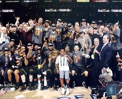 Cleveland Cavaliers 2016 Champions Celebrate Game 7 Win SATIN 8X10 Photo LIMITED STOCK