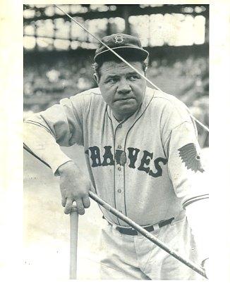Babe Ruth Boston Braves LIMITED STOCK 8X10 Photo