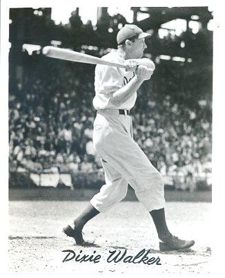 Dixie Walker Brooklyn Dodgers LIMITED STOCK 8X10 Photo