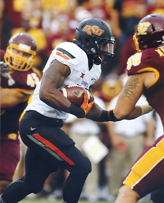 Chris Carson Oklahoma State Cowboys LIMITED STOCK SATIN 8x10 Photo