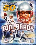 Tom Brady Single Season Record 50 Passing T.D.'s New England Patriots LIMITED STOCK 8x10 Photo