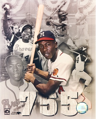 Hank Aaron 755 Atlanta Braves LIMITED STOCK 8X10 Photo