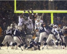 Adam Vinatieri New England Patriots LIMITED STOCK SATIN 8X10 Photo SNOW BOWL