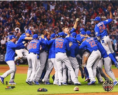 Chicago Cubs Celebrate 2016 World Series SATIN 8X10 Photo