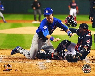 Ben Zobrist Game 6 World Series 2016 Chicago Cubs SATIN 8X10 Photo