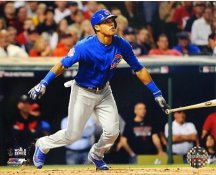 Addison Russell Game 6 - 2 Run Double 2016 World Series Chicago Cubs SATIN 8X10 Photo