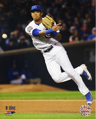 Addison Russell Game 5 World Series 2016 Chicago Cubs SATIN 8X10 Photo