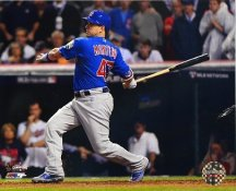 Miguel Montero Game 7 R.B.I. Single 2016 World Series Chicago Cubs SATIN 8X10 Photo