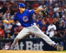 Kyle Hendricks Game 7 World Series 2016 Chicago Cubs SATIN 8X10 Photo
