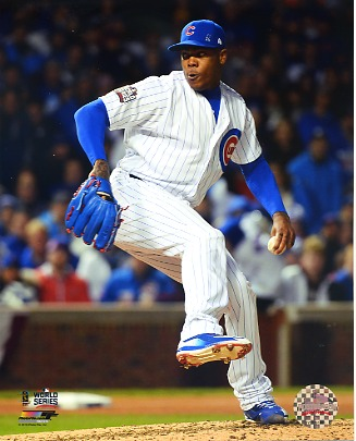 Aroldis Chapman Game 5 World Series 2016 Chicago Cubs SATIN 8X10 Photo