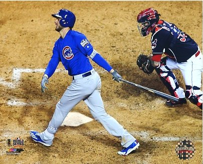 Kris Bryant Game 2 World Series 2016 Chicago Cubs SATIN 8X10 Photo
