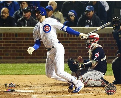 Kris Bryant Game 5 Home Run 2016 World Series Chicago Cubs SATIN 8X10 Photo