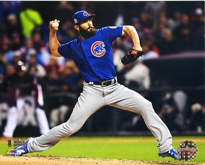 Jake Arrieta Game 2 World Series 2016 Chicago Cubs SATIN 8X10 Photo