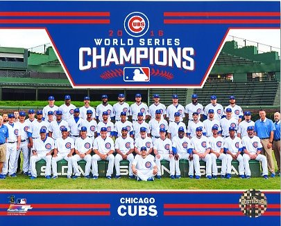 Chicago Cubs 2016 World Series Champions Sit Down SATIN 8X10 Photo