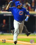 Kyle Schwarber Game 2 R.B.I. Single 2016 World Series Chicago Cubs SATIN 8X10 Photo