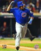 Kyle Schwarber Game 2 R.B.I. Single 2016 World Series Chicago Cubs SATIN 8X10 Photo