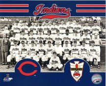 Cleveland Indians 1948 World Series Team SATIN 8X10 Photo