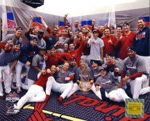 Cardinals 2006 World Series Team Locker Room Celebration 8x10 Photo