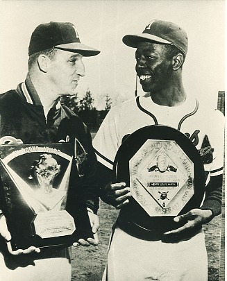 Hank Aaron & Warren Spahn Milwaukee Braves LIMITED STOCK 8X10 Photo