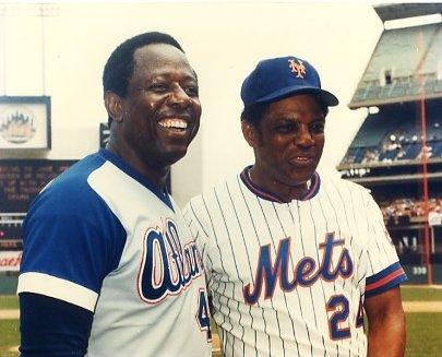 Hank Aaron & Mookie Wilson Atlanta Braves & New York Mets LIMITED STOCK 8X10 Photo