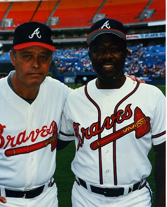 Hank Aaron & Eddie Matthews Atlanta Braves LIMITED STOCK 8X10 Photo