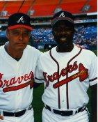 Hank Aaron & Eddie Mathews Atlanta Braves LIMITED STOCK 8X10 Photo