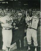 Hank Aaron & Eddie Mathews Milwaukee Braves LIMITED STOCK 8X10 Photo