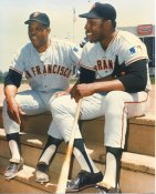 Willie Mays & Willie McCovey San Francisco Giants Very Small Ink Smudge & Crease LIMITED STOCK 8X10 Photo
