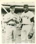 Willie Mays & Mickey Mantle New York Giants & New York Yankees Small Crease SUPER SALE 8X10 Photo