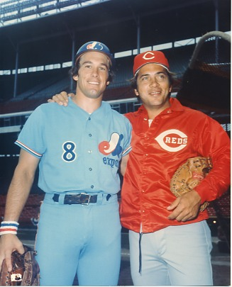 Johnny Bench & Gary Carter Cincinnati Reds & Montreal Expos LIMITED STOCK 8X10 Photo