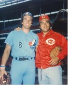 Johnny Bench & Gary Carter Cincinnati Reds & Montreal Expos LIMITED STOCK 8X10 Photo