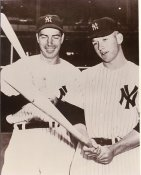 Joe DiMaggio & Mickey Mantle New York Yankees Small Crease LIMITED STOCK 8X10 Photo